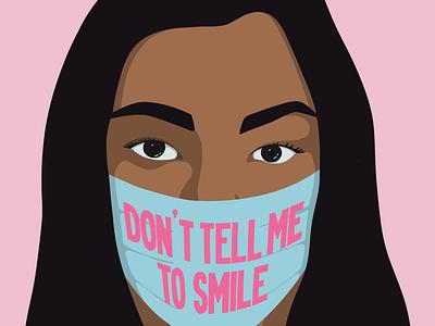 Wear a Mask feminism activism lettering handlettering procreate illustration