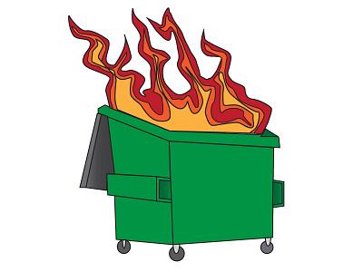 Dumpsterfire sticker