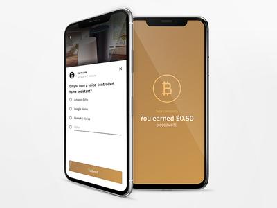 Earn Bitcoin crypto bitcoin mobile ui ux