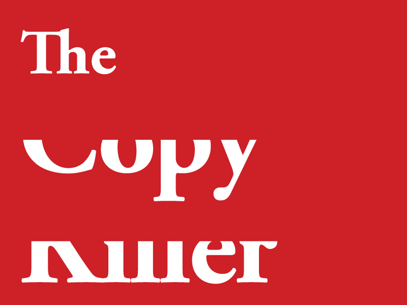 The Copy Killer typography type copy red white