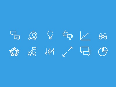 Critical Business Decisions Icon Set