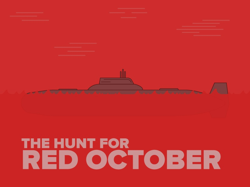 The Hunt For Red October poster film movies sean connery submarine soviet submarine red october