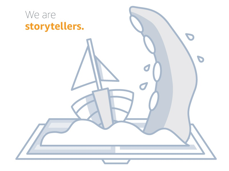 We are storytellers kracken sailboat ux storytelling