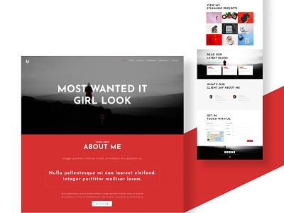 Precise — Personal Website Template template webdesign app icon typography ux branding ui logo design illustration
