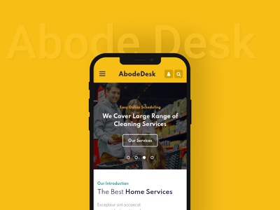 Abode Desk — Mobile App and App Launch Website Template multipurpose logo illustration icon fashion design branding app webdesign ui template
