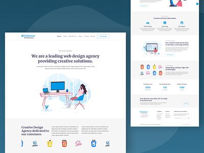 Solutions Website Template web corporate multipurpose logo fashion design branding app webdesign ui template