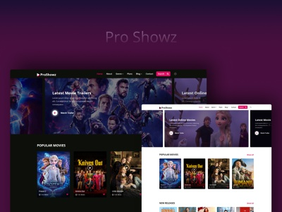 Pro Showz — Entertainment Website Template illustration icon multipurpose logo fashion design branding app webdesign ui template