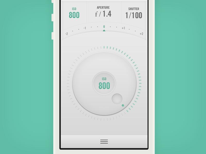 Camera Remote App // Light version ui interface camera light dial remote wheel