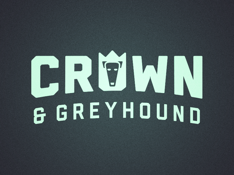Crown & Greyhound Exploration typography identity design branding crown greyhound animal logo logo