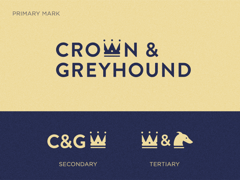 Crown & Greyhound Identity typography greyhound crown brand identity design logo design rebrand logo branding