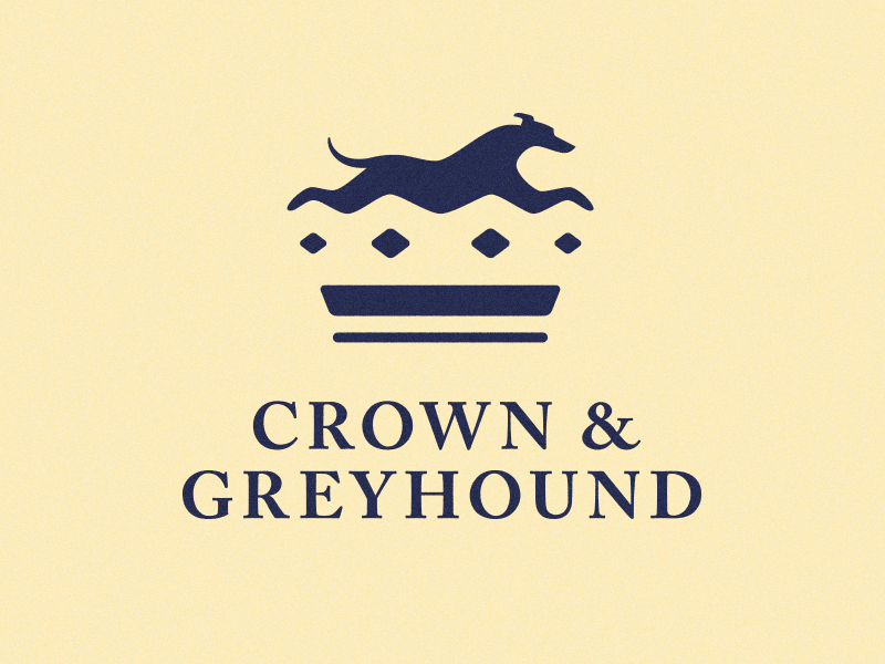 Crown & Greyhound - Negative Space Logo negative space logo negative space typography rebrand logo design logo greyhound crown branding design brand identity