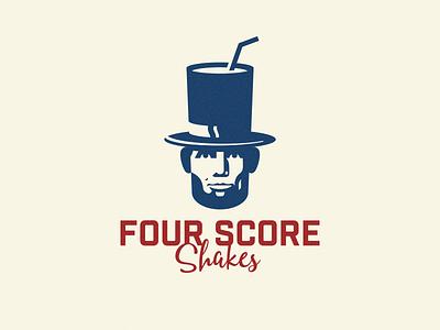 Milkhouse Shakes | V2 (Four Score) typography logo illustration icon history graphic design flat design clean branding brand identity art