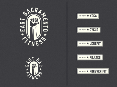 East Sacramento Fitness | V2 monogram logo illustration icon graphic design flat design clean branding brand identity art