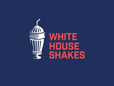 Milkhouse Shakes | V2 (White House) typography logo illustration icon history graphic design flat design clean brand identity branding art