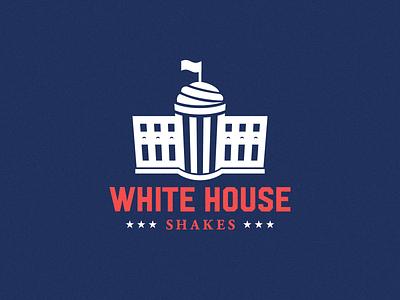 Milkhouse Shakes | V3 (White House) typography logo illustration icon monogram graphic design flat design clean branding brand identity art