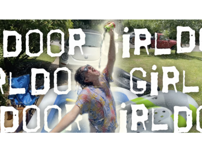 Door Girl Music Video Thumbnail typography design animation
