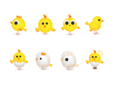 Idea chicken animal bird chicken idea hatchery illustration easter