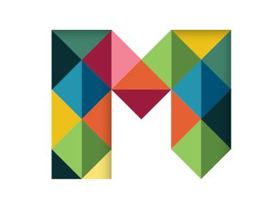 Mosaic mosaic m triangle logo