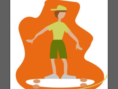 мальчик катается на скейте useful pastime enjoys sports boy rides a skateboard vector illustration boy rides a skateboard vector