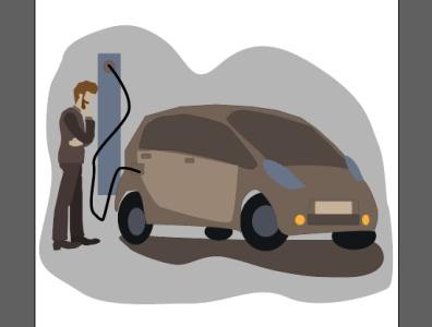 заправка электромобиля electric cars cars of the future electric car vector