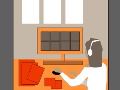 он-лайн обучение training distance illustrator distance learning vector