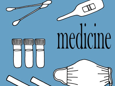 medicine22 print on baby clothes print for a hoodie print stickers on a cosmetic bag a poster on packaging print on a phone case vector set doodle vector illustration coronavirus vaccine uoronavirus vaccine covid-19 test coronavirus test sanitizer mask medicine