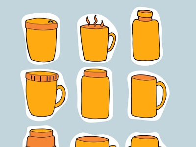 thermo cup, container for drinking in winter, we drink hot drink illustration for a postcard illustration for stories illustration for instagram cup with a double bottom thermo bottle thermo glass thermo mug we drink hot drinks in winter container for drinking in winter thermo cup