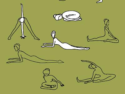 йога illustration for a poster illustration for a postcard illustration for instagram illustrations for the site asanas improving health through yoga yoga workouts doing yoga yoga