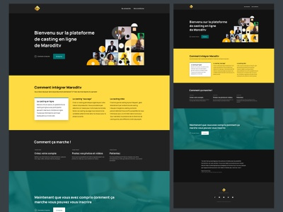 Marodi Casting new look figma africa senegal dakar design yellow webdesign ux ui