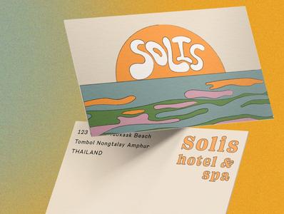 Solis Hotel &Spa vector icon typography concept design logo design branding adobe photoshop adobe illustrator illustration