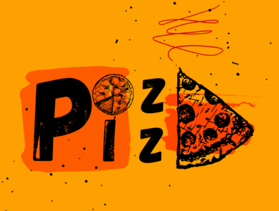 Pizza logo caribbean design artwork artistic artist art illustration
