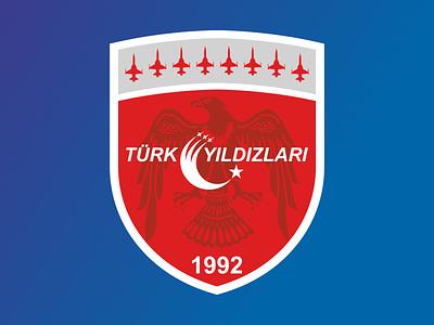 Türk Yıldızları Logo Renewal design flat vector branding logo