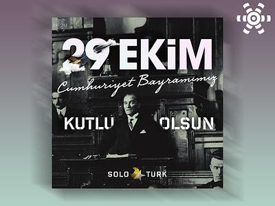 SoloTürk 29 Ekim Tasarımı typography design