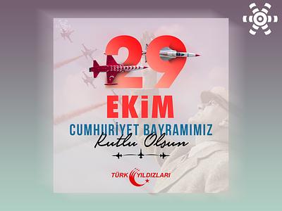 Türk Yıldızları 29 Ekim Tasarımı typography design