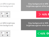 < 46% Brightness for Gray Text