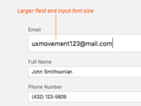 Enlarging Email Field on Selection