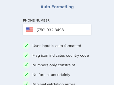 Auto-Formatting for Phone Number Field