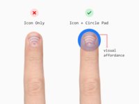 Tapping Icon Buttons