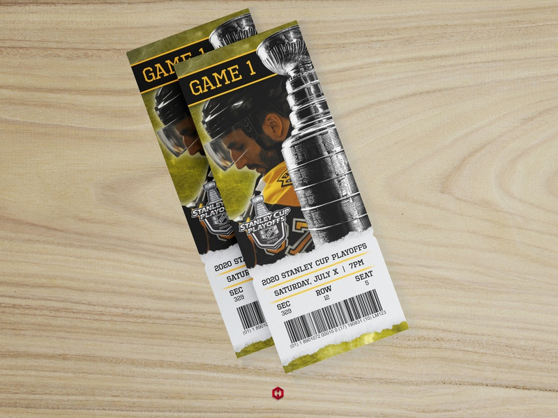 2020 Boston Bruins Playoff Ticket Concept