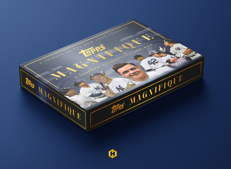 Topps Magnifique: Baseball Card Concept sports design sports yankees product design mockup baseball cards baseball
