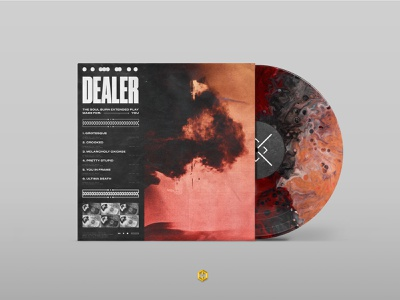 Dealer - Vinyl Concept photoshop saint soul burn design product design mockup concept human warfare hardcore australia dealer records music vinyl