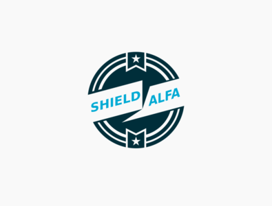 shield alfa Logo inkscape vector logo