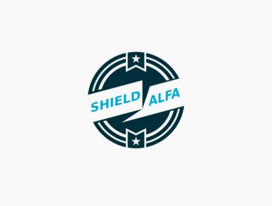 shield alfa Logo inkscape vector logo
