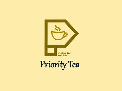 Priority tea logo design ( p letter logo ) illustrator inkscape typography logo design business logo vector design ui graphic design branding logo