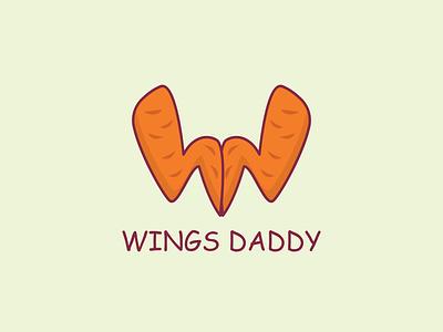 Wings Daddy modern logo design. graphic design brand identity logomark logo design ui typography branding design vector inkscape logo