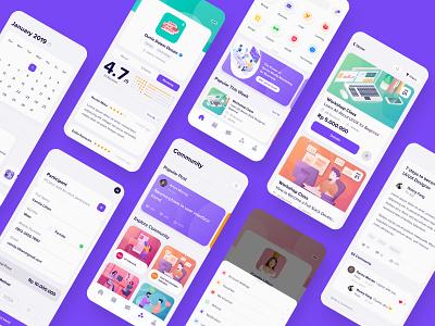 #Exploration UI/UX Workshop Schedule App icon minimal design illustration mobile app ux ui