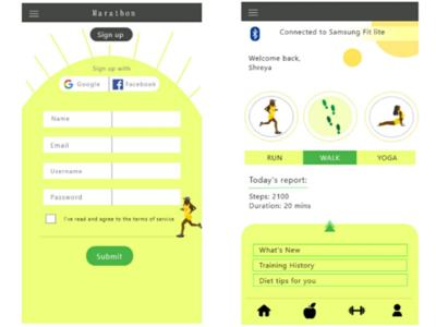 Fitness app UI training pesonalised fitness platform fitness yellow dailyuichallenge dailyui