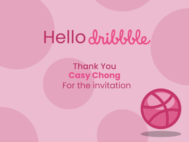 Hello Dribbble hello dribbble dribbble invitation
