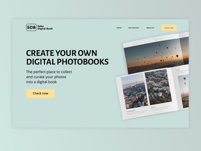 Digital Photo Book Service design ui webdesign indonesia figma landing page