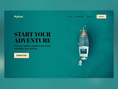 MyBoat - Sailing Service figma design webdesign ui indonesia landing page